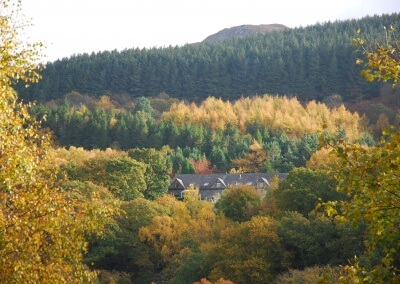 Autumn view of The Slate Shed