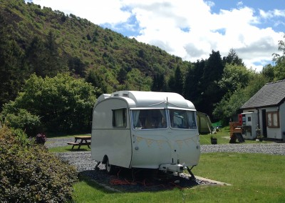 Caravans and smaller motorhomes welcome