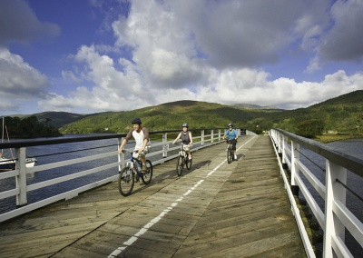 Penmaenpool Bridge by Mawddach Trail © Crown copyright (2014) Visit Wales