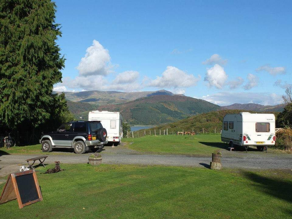 View when camping pitches in use