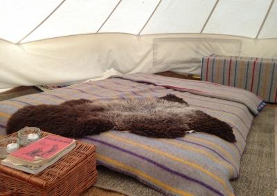 Bell tent bedding