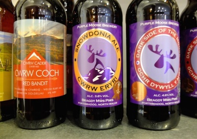 Wide range of local Welsh ales and lager