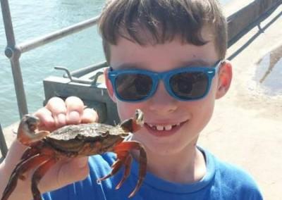 Ernie goes crabbing!