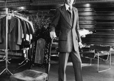 1969 — Tailor Tommy Nutter in his Savile Row shop. –Photo by Jones/Evening Standard/Getty Images