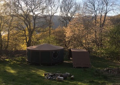 Wild glamping location (May - September)