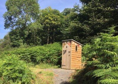 Handy compost loo