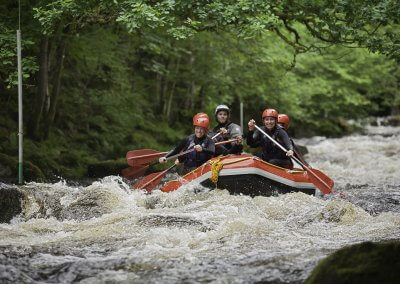 Whitewater rafting near Bala