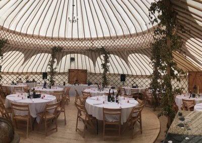 Amy and Chris's amazing yurt