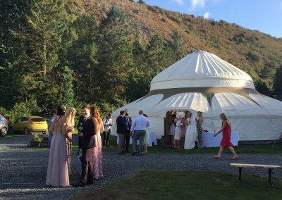 Amy and Chris' wedding yurt