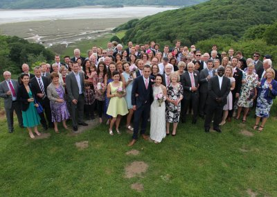 Tom and Clare's wedding party