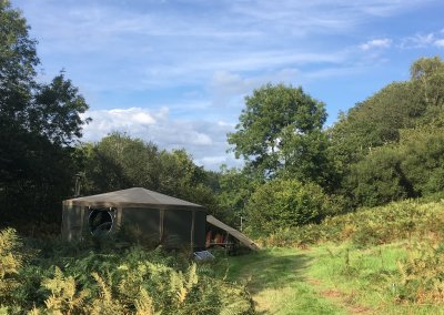 Wild glamping in Idris