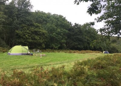 A couple of the pitches in the secluded field