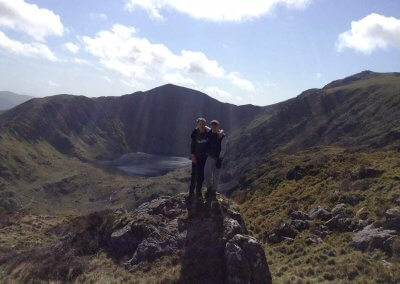 Photo: William Gunshon and friend summit Cader Idris