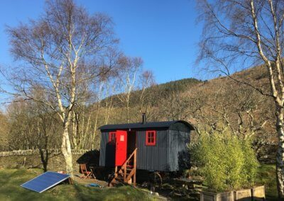 Getting ready for first guests in the new Shepherd's Hut