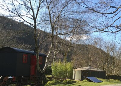 Tommy and the Shepherds hut  are next to each other but each feels private