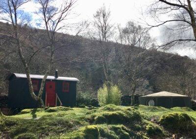 Shepherd's Hut and Tommy yurt