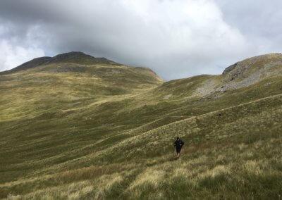 Descending from Arenig Fawr