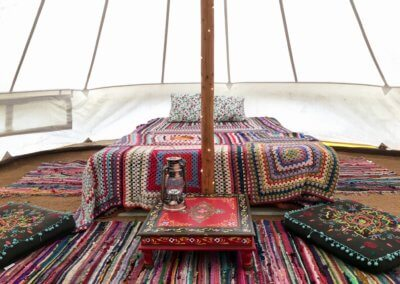 Bell tent available until early September
