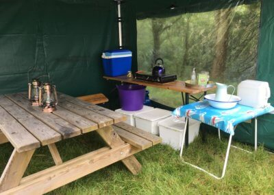 Bell tent kitchen gazebo