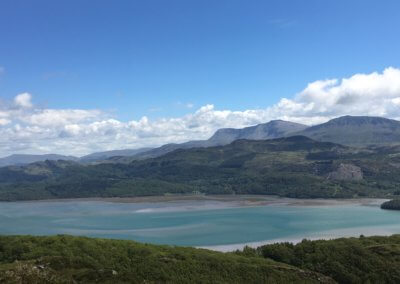 The Mawddach Estuary from hills above Barmouth