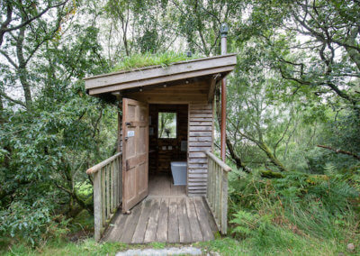 Clean and airy compost loo