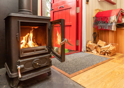 Woodburning stove and super insulated