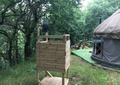 Shower for small yurt