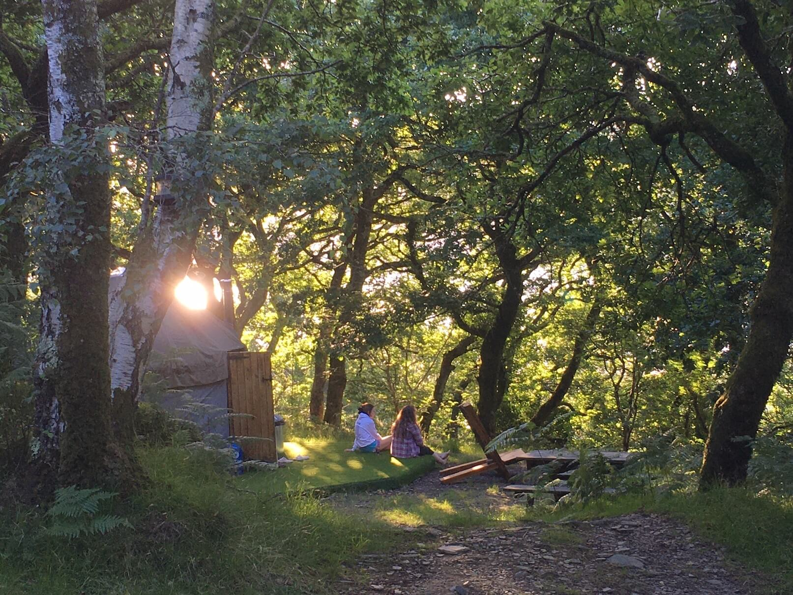 Summer evening at the yurt