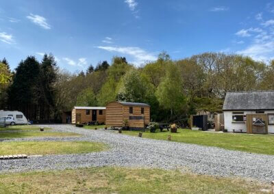 glamping pods open in winter Snowdonia