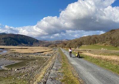 Cyclists on Mawddach Trail