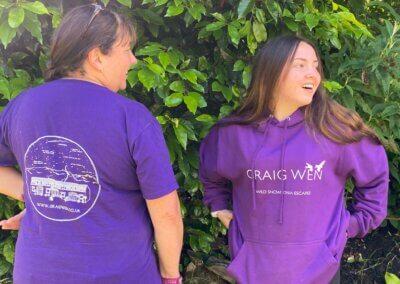 Purple Graig Wen hoodies