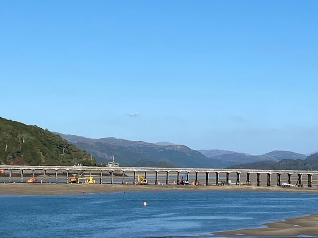 Work on Barmouth Bridge
